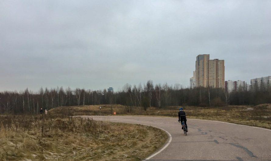 По велотрассе с коляской